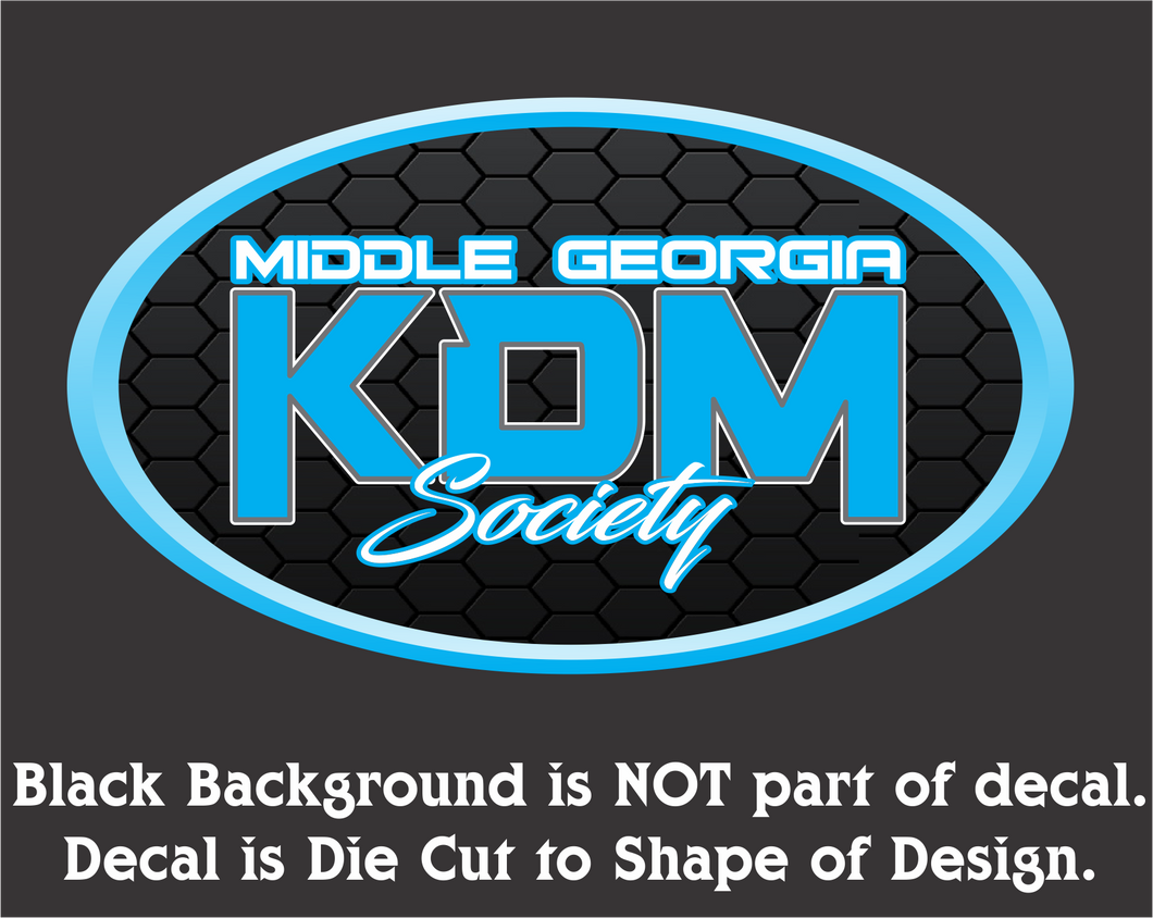 Middle Georgia KDM Society Oval Decal (3 Sizes - 8 Colors)