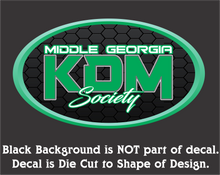Load image into Gallery viewer, Middle Georgia KDM Society Oval Decal (3 Sizes - 8 Colors)