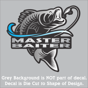 "Master Baiter Decal (4""x4"", 6""x6"", & 10""x10"")"