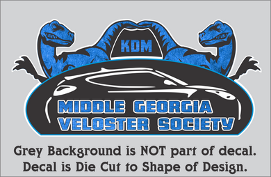 Middle Georgia Veloster Society Decals (3 Sizes, 5 Color Combos)