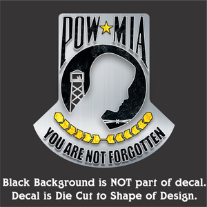 "POW-MIA - Hi-Performance Vinyl Decal 4.5""x5"""