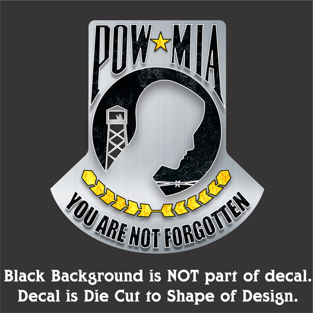POW-MIA - Hi-Performance Vinyl Decal 4.5