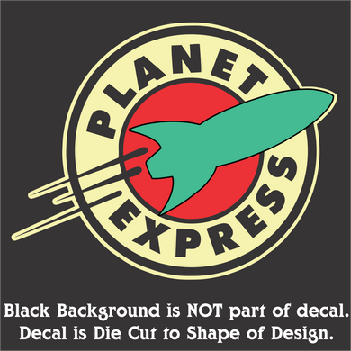 Planet Express Decal (4