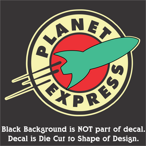 "Planet Express Decal (4""x5"", 6""x7.5"", & 10""x12.5"")"