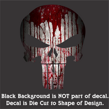 Load image into Gallery viewer, Punish(er) Skull - Hi-Performance Vinyl Decal (2 Size & 23 Colors/Patterns)