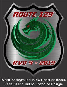 "Official RVD-4 2019 Event Decal (5.25""x4.25"")"