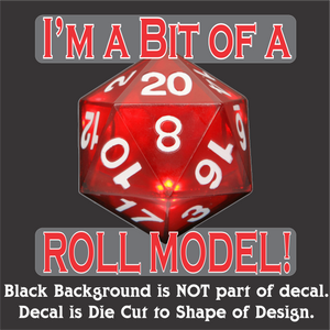 "Roll Model Decal (4""x4"", 6""x6"", & 10""x10"")"