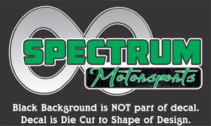 Spectrum Motorsports Decals (11 Color Combos/3 Sizes)