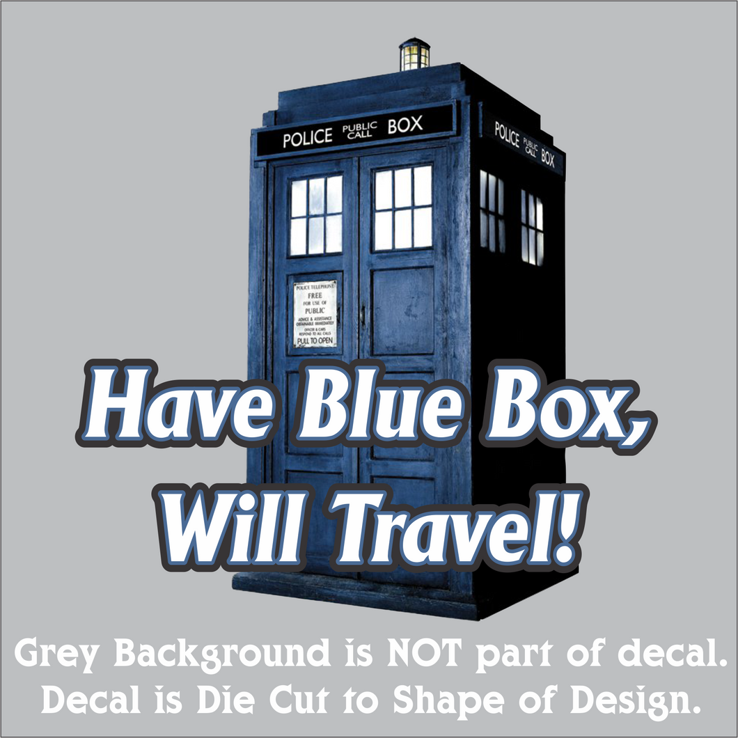Blue Box Traveler Decal (4