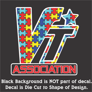 "VT Association Autism Edition Decal (5""x5"", 7""x7"", & 10""x10"")"
