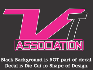 VT Association Decals (8 Colors - 4 Sizes)