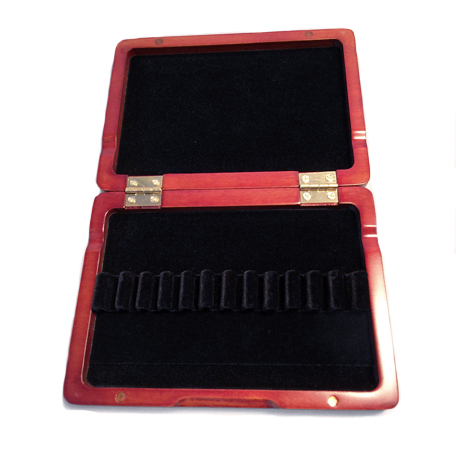 Wooden Oboe Reed Case (Red) – 12 Ribbon - Dolce Music Store