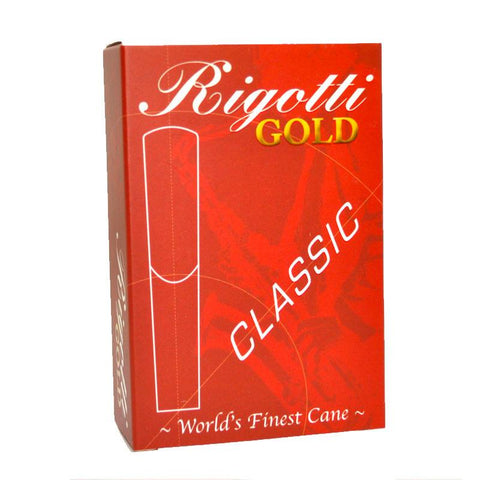 Rigotti Gold CLASSIC Alto Saxophone Reeds – Box of 10 - Dolce Music Store
