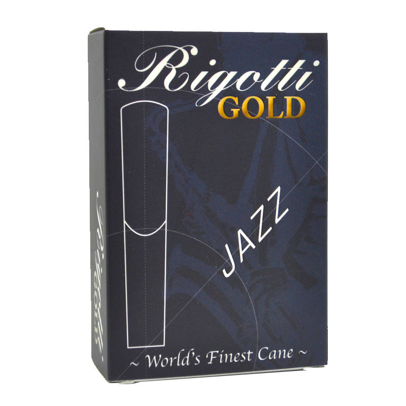 (NEW!) Rigotti Gold JAZZ Tenor Saxophone Reeds – Box of 10
