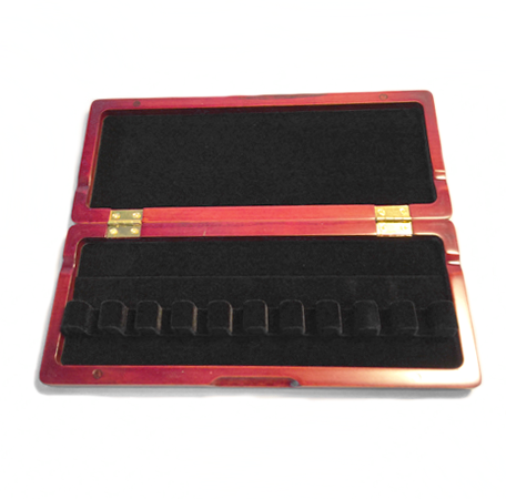 Wooden Bassoon Reed Case (Red) – 10 Ribbon - Dolce Music Store