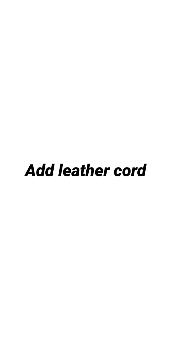 Add Leather Cord