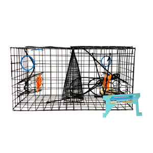 "Joy Fish Maryland Blue Crab Heavy Duty Crab Trap, 24""x12""x12"" with Gauge"