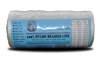 Joy Fish White Braided Nylon Twine