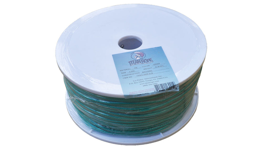 Green Braided Polyethylene Twine