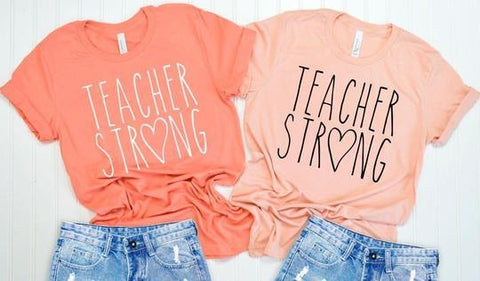 Teacher Strong Black Letters