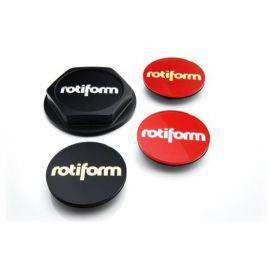 Rotiform Hex Colored Center Caps - Black & Silver-Rotiform Accessories-Rotiform-Stance Fittings | The Southern Stance Specialist