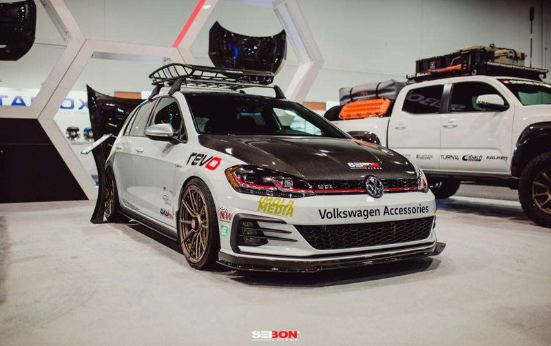 TM-STYLE CARBON FIBRE BONNET FOR 2015-2020 VOLKSWAGEN GOLF / GTI / R-Carbon Parts-Seibon Carbon-Stance Fittings | The Southern Stance Specialist