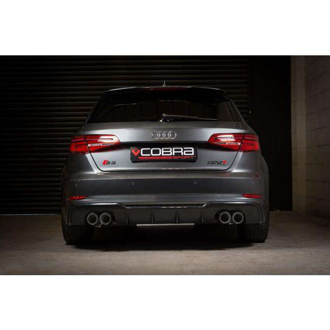 Audi S3 8V model / 3 Door Performance Valved Cat Back Exhaust (Non-Resonated)-Exhausts-Cobra Exhaust Systems-Stance Fittings | The Southern Stance Specialist