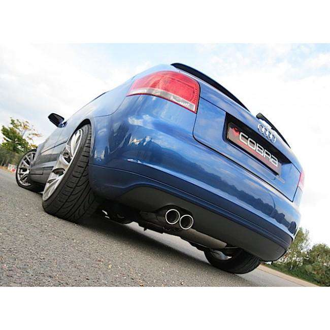 Audi A3 8P / 2.0 TFSI / 2WD / 3 & 5 Door Performance Turbo Back Exhaust (De-Cat / Non-Resonated)-Exhausts-Cobra Exhaust Systems-Stance Fittings | The Southern Stance Specialist