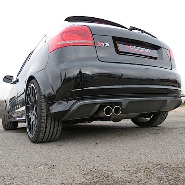 Audi S3 8P model / 3 Door Performance Turbo Back Exhaust (Sports Catalyst / Non-Resonated)-Exhausts-Cobra Exhaust Systems-Stance Fittings | The Southern Stance Specialist