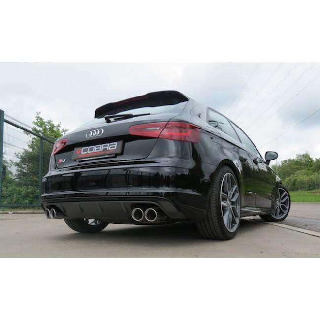 Audi S3 8V / 3 door Performance Turbo Back Exhaust (De-Cat & Resonated / Non-Valved)-Exhausts-Cobra Exhaust Systems-Stance Fittings | The Southern Stance Specialist