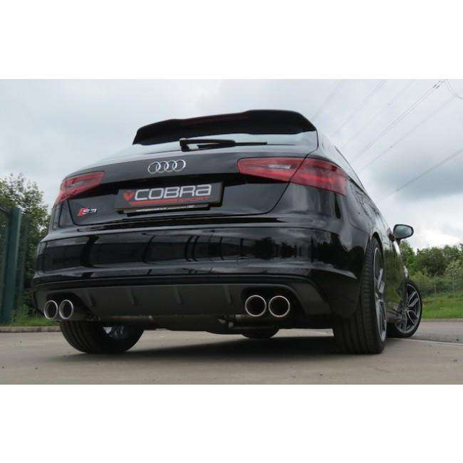 Audi S3 8V / 3 door Performance Cat Back Exhaust (Non-Resonated / Non Valved)-Exhausts-Cobra Exhaust Systems-Stance Fittings | The Southern Stance Specialist
