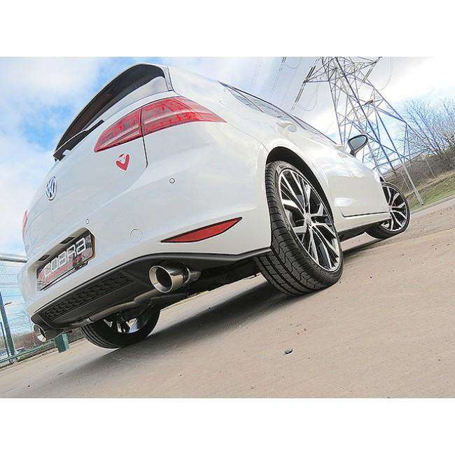 VW Golf MK7 GTD (5G) 2012-17 GTI Style Cat Back Exhaust-Exhausts-Cobra Exhaust Systems-Stance Fittings | The Southern Stance Specialist