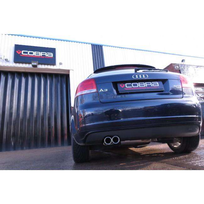 Audi A3 2.0 TFSI Quattro Performance Turbo Back Exhaust (with De-Cat / Non-Resonated)-Exhausts-Cobra Exhaust Systems-Stance Fittings | The Southern Stance Specialist
