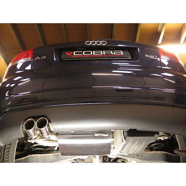 Audi A3 2.0 TFSI Quattro Performance Cat Back Exhaust (Resonated)-Exhausts-Cobra Exhaust Systems-Stance Fittings | The Southern Stance Specialist