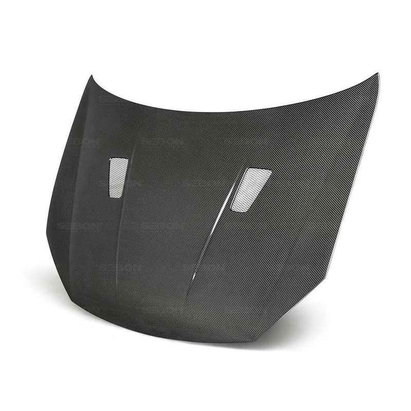 TM-STYLE CARBON FIBRE BONNET FOR 2010-2014 VOLKSWAGEN GOLF / GTI / R (SHAVED)-Carbon Parts-Seibon Carbon-Stance Fittings | The Southern Stance Specialist