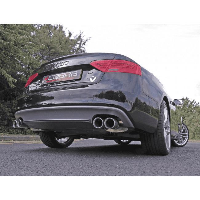 Audi S5 3.0 TFSI Coupe 2009 Cat Back Exhaust (Non Resonated)-Exhausts-Cobra Exhaust Systems-Stance Fittings | The Southern Stance Specialist