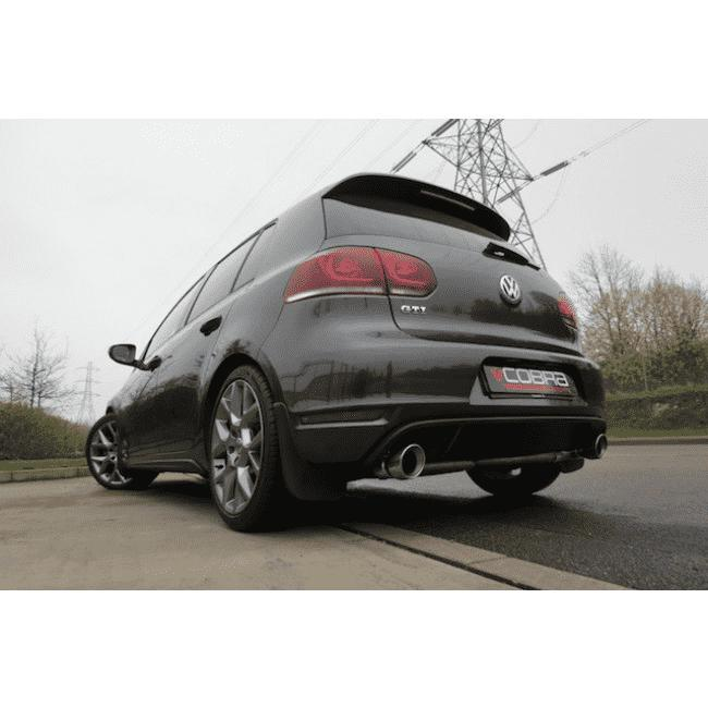 VW Golf MK6 GTI (5K) 2009-13 Turbo Back Exhaust (With Sports De-Cat & Resonated)-Exhausts-Cobra Exhaust Systems-Stance Fittings | The Southern Stance Specialist