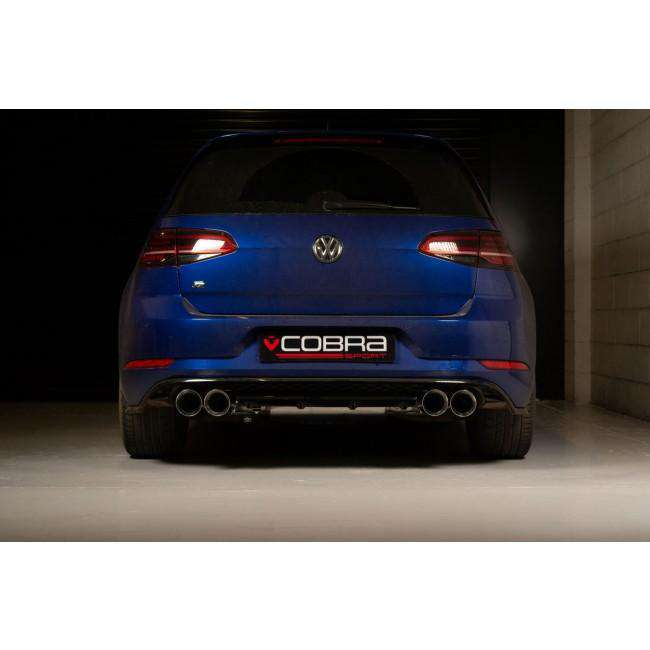 VW Golf MK7/7.5 R (5G) 2013-18 Cat Back Exhaust (Valved / Non-Resonated)-Exhausts-Cobra Exhaust Systems-Stance Fittings | The Southern Stance Specialist