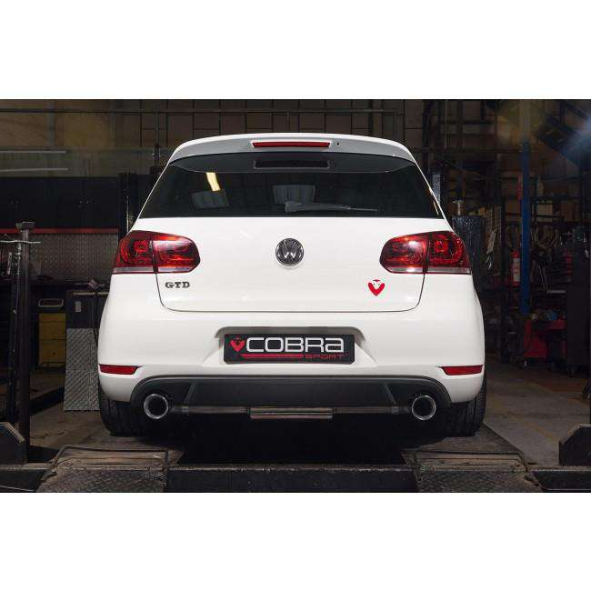VW Golf MK6 GTD (5K) 2.0 TDI 170PS 2009-13 Dual Exit Cat Back Exhaust-Exhausts-Cobra Exhaust Systems-Stance Fittings | The Southern Stance Specialist