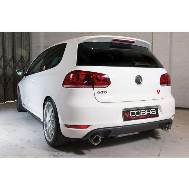 VW Golf MK6 GTD (5K) 2.0 TDI 170PS 2009-13 Dual Exit Cat Back Exhaust (Venom Range)-Exhausts-Cobra Exhaust Systems-Stance Fittings | The Southern Stance Specialist