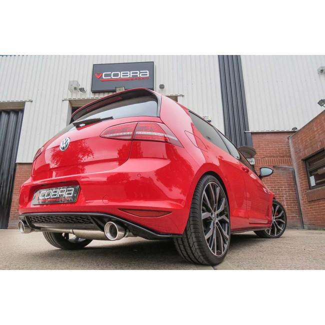 VW Golf MK7 GTI (5G) 2012-17 Turbo Back Exhaust (With Sports Catalyst & Non-Resonated)-Exhausts-Cobra Exhaust Systems-Stance Fittings | The Southern Stance Specialist