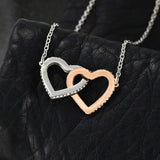 Interlocking Hearts Necklace (Loving You and Breathing) - Happy Flower Star