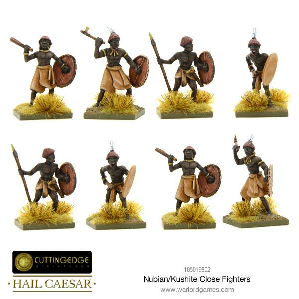 Nubian/Kushite Close Fighters