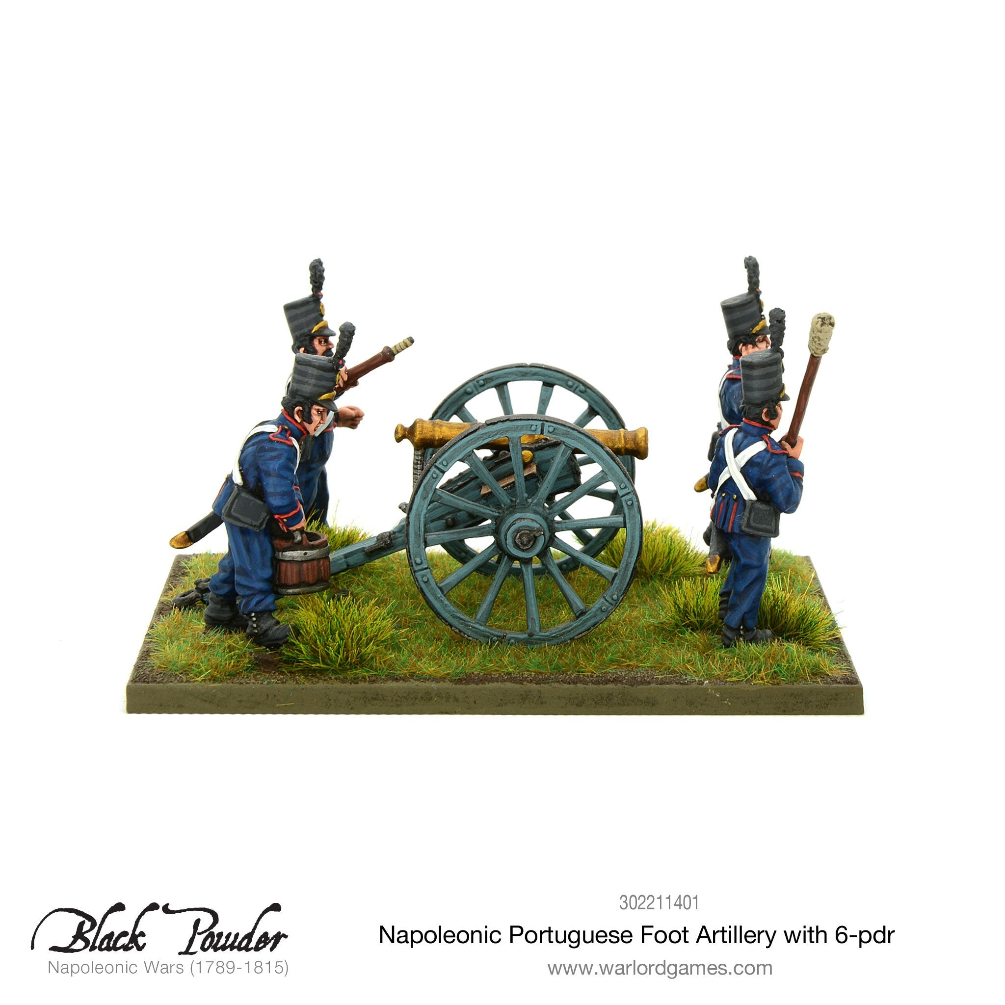 Napoleonic Portuguese Foot Artillery with 6-pdr