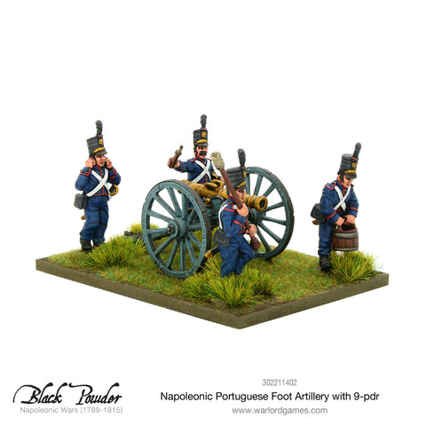 Napoleonic Portuguese Foot Artillery with 9-pdr