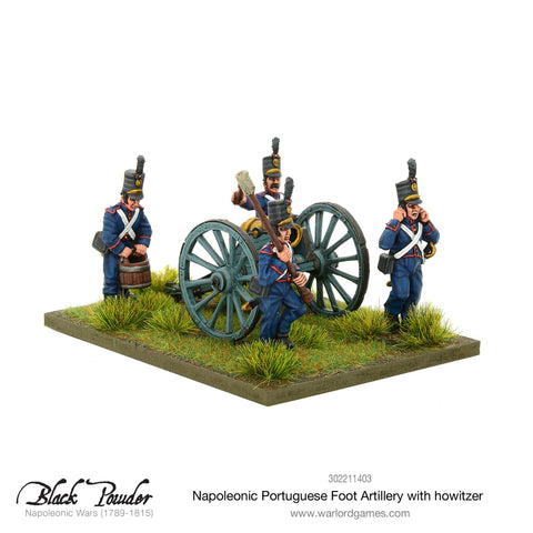 Napoleonic Portuguese Foot Artillery with howitzer