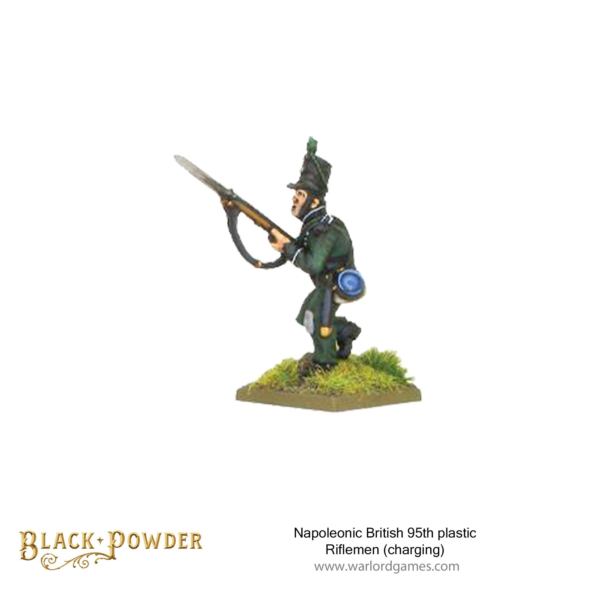 Napoleonic British 95th plastic Riflemen 1 (charging)