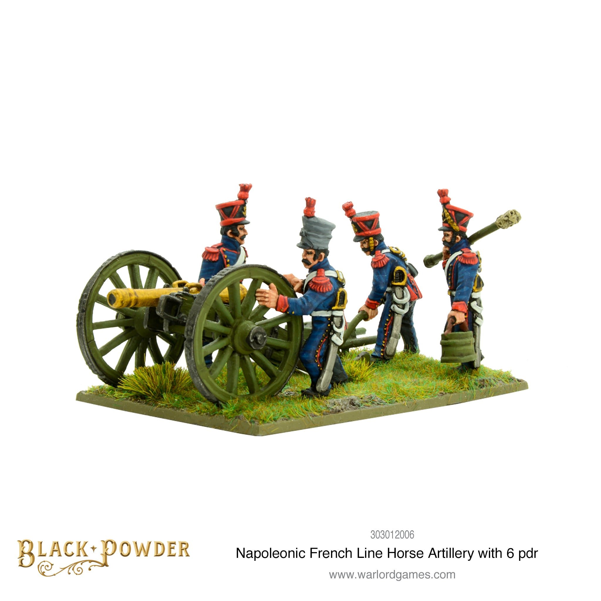 Napoleonic French Line Horse Artillery with 6 pdr