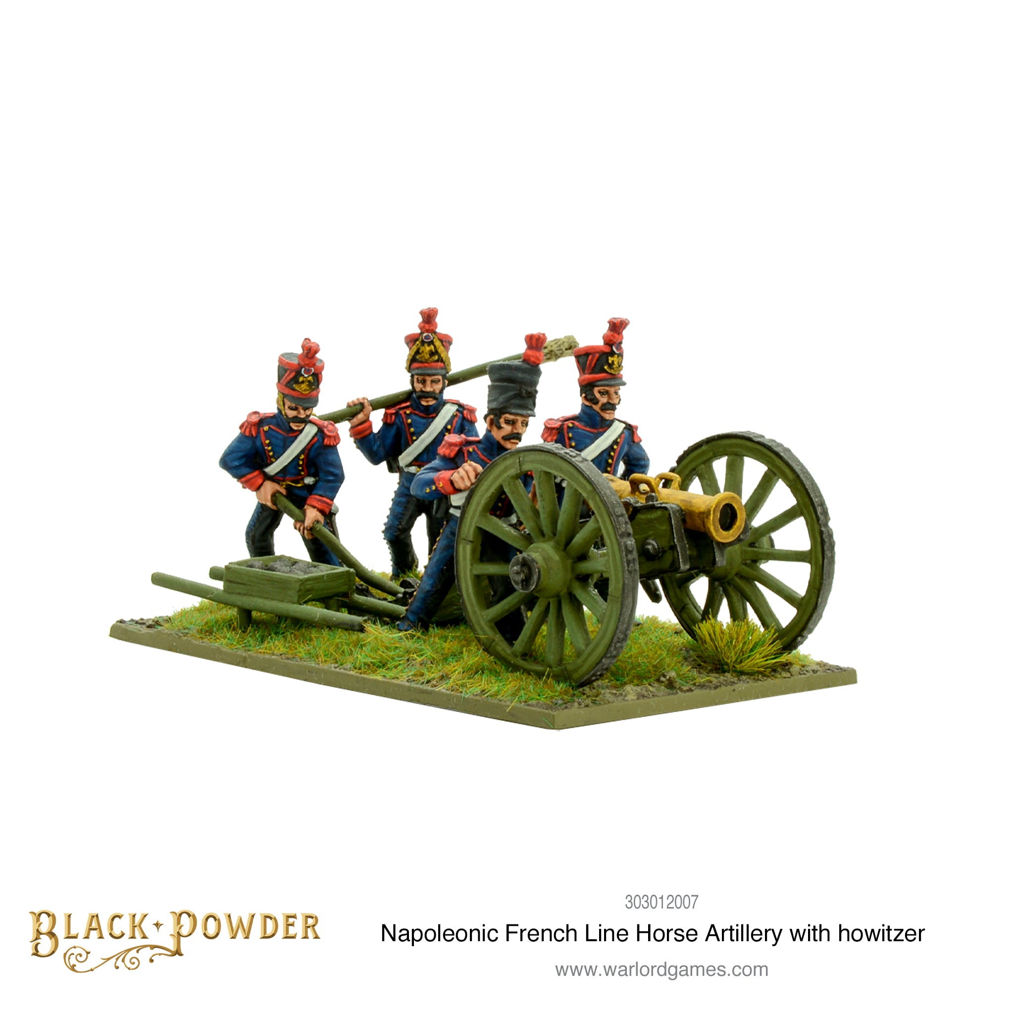 Napoleonic French Line Horse Artillery with howitzer