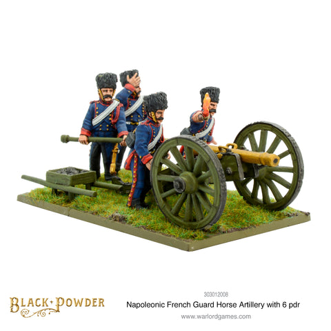 Napoleonic French Guard Horse Artillery with 6 pdr